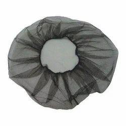 Non Woven Fabric Black Disposable Medical Cap, Size: 16''