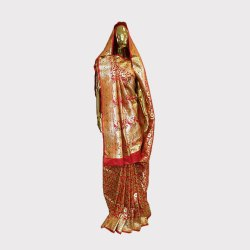 Red Bridal Banarasi Saree