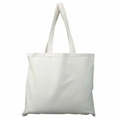 b30adfb907 Plain Loop Handle Cotton Canvas Tote Bag, Rs 13 /bag, A.J.Fashions ...