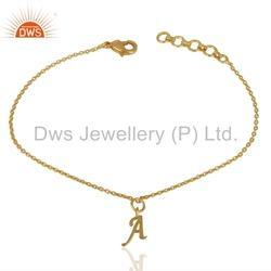 Gold Plated Personalized Bracelet Jewelry