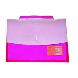 Pink Button File Folder