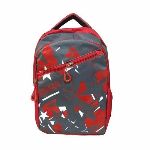 6e5451d2b23a American Tourister Rexine Printed School Bag