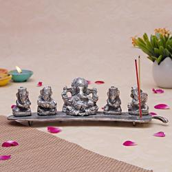Five Ganesha Incense Sticks Holders