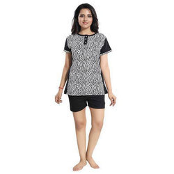 Women Trendy Cotton Top and Shorts Set