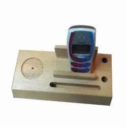 Wooden Pen With Mobile Stand