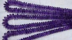Amethyst German Cut Beads, Amethyst Disc Beads, Purple Gemstone Beads, Amethyst Necklace,