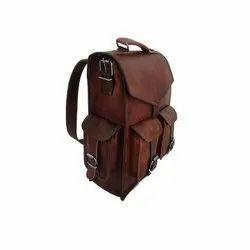 Leather Dark Brown Backpack