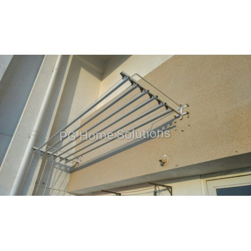 Super Dry Metallic Silver Open Terrace Clothes Drying Rack