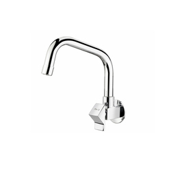Wall Mounted Sink Cock With Extended Swinging Spout