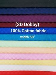 Cotton Shirting Fabric (3D Dobby)