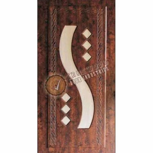 Polished Hinged 3D Double Color Embossed Door