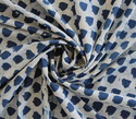Indigo Blue Hand Block Floral Print Kurti Fabric
