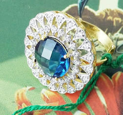 Blue Designer Ring