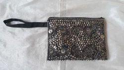 Embroidered HH Antique Handmade Bag