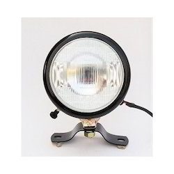 Round Black Plough Lamp Assembly