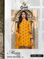 Printed Casual Wear New Cambric Cotton With Self Embroidery Work Suit, cottan suits