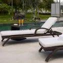 Aluminum Wicker Poolside Lounger