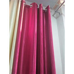 Plain Eyelet Door Curtain, Shape: Vertical
