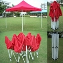 Quick Foldable Gazebo Tent - 10'x10' - Red