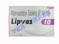 Lipvas 10mg Atorvastatin Tablets