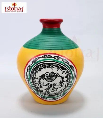 Matki Shaped Decorative Vase