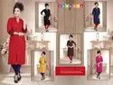 3/4th Sleeves Formal Rayon Kurti