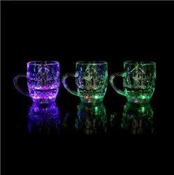 Flashing LED 7 Colour Changing Liquid Activated Mug Beer Mugs Rainbow Colour Changing