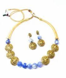 SPJ006 Antique Gold Brass Beads Strung
