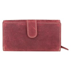 Ladies Leather Zip Around Clutch Purse