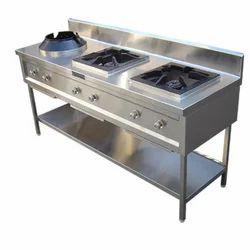 SS Triple Burner Cooking Range