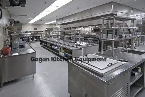 Stainless Steel Gagan Kitchen Equipment Commercial Kitchen