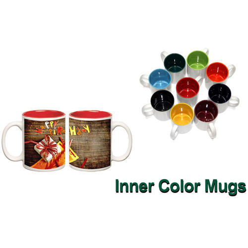 Ceramic Inner Color Coffee Mugs, for Office, Packaging Type: Box