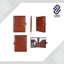 Promotional Black And Brown Leather File Folder for Document