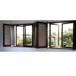 Brown Aluminium Casement Window