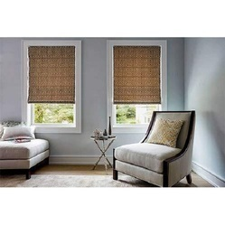 Jute Printed Window Roman Blind