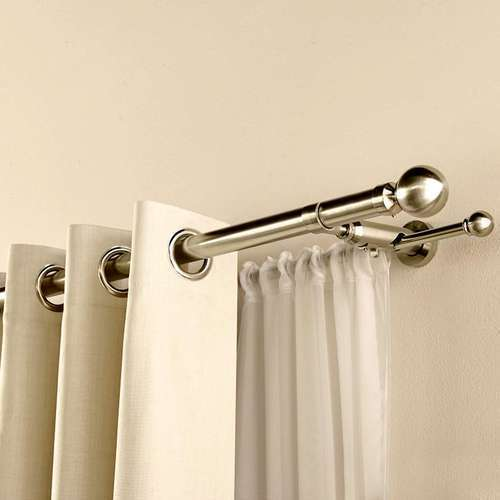 twisted chrome product polished curtains rods metal curtain rod folding detail
