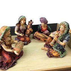 Indian Folk Musicians Decorative Piece