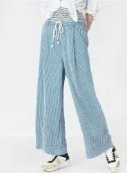 Striped Printed Palazzo Pants For Girls