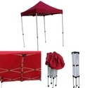 Quick Foldable Gazebo Tent - 7'x7' - Red