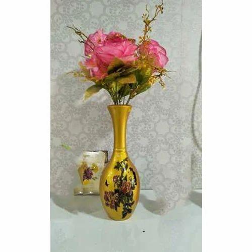 Golden Unique Flower Vase Shape Round Shaped Rs 550 Set Id