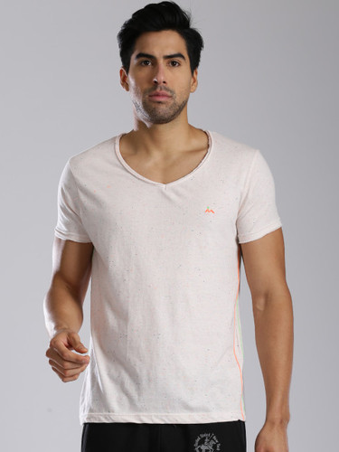 Men' s White Casual Wear Cotton T Shirt, Size : Small, Medium, Large, XL
