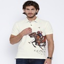 Printed Polo T Shirt