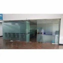 Hinged Office Toughened Glass Door