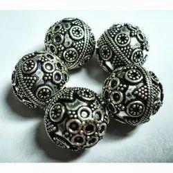 Bali Oxidized Silver Beads