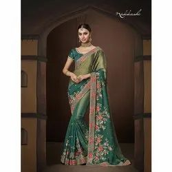 Ladies Heavy Thread Work Designer Saree