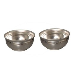 Polished Nutristar Silver Coated Brass Bowl, Size: 4 Inch (Dia), Packaging Type: Box