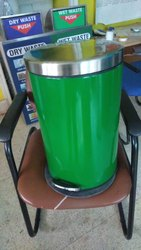 M S Powder Coated Pedal Bin
