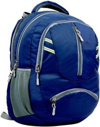 Unisex Black School Bag, Size/Dimension: Medium