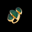 14K Gold Plated Natural Gemstone Ring For Women