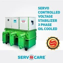 3 Phase Oil Cooled Servo Controlled Voltage Stabilizer